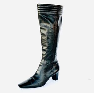 Women's Cole Haan Black Buttery Leather Boots.
